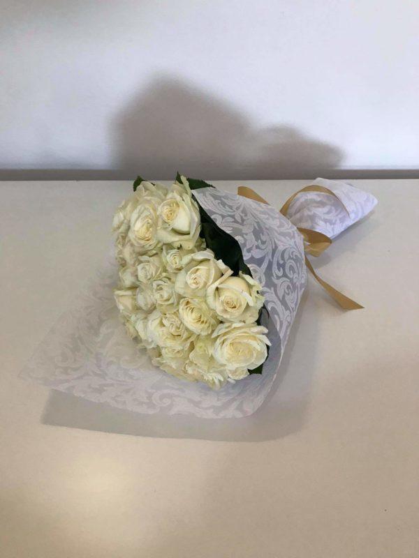 باقة جوري أبيض  30 وردة