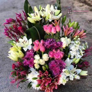 سلة الأزهار الفاخرة في عمان الأردن