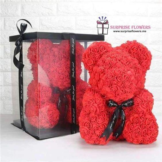 Special Floral Rose Teddy Bear in amman jordan